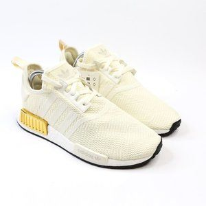 Adidas NMD R1 Primeknit White Gold Black Womens 10
